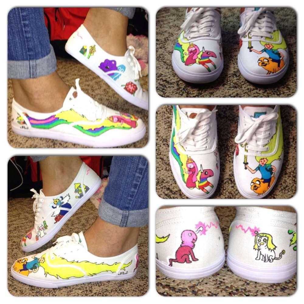 d6010f9afc Adventure time wit Finn n jake. Custom vans. Canvas shoes. Princess  Bubblegum. Lumpy Space Princess. Ghost Princess. LemonGRAB. Lady Rainicorn.  Ice King