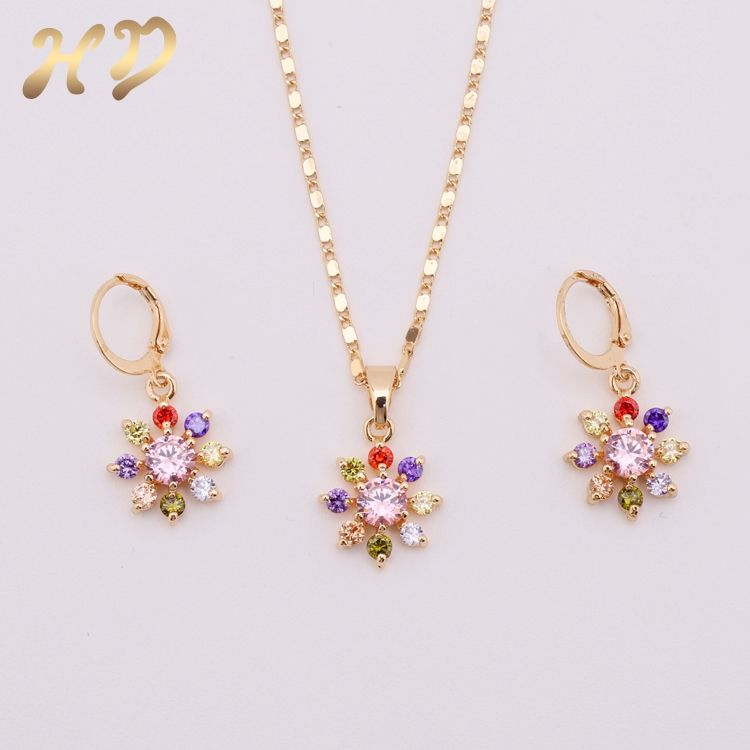 Best Brand Jewelry Pakistani Colorful 18K Gold Jewelry Sets For ...