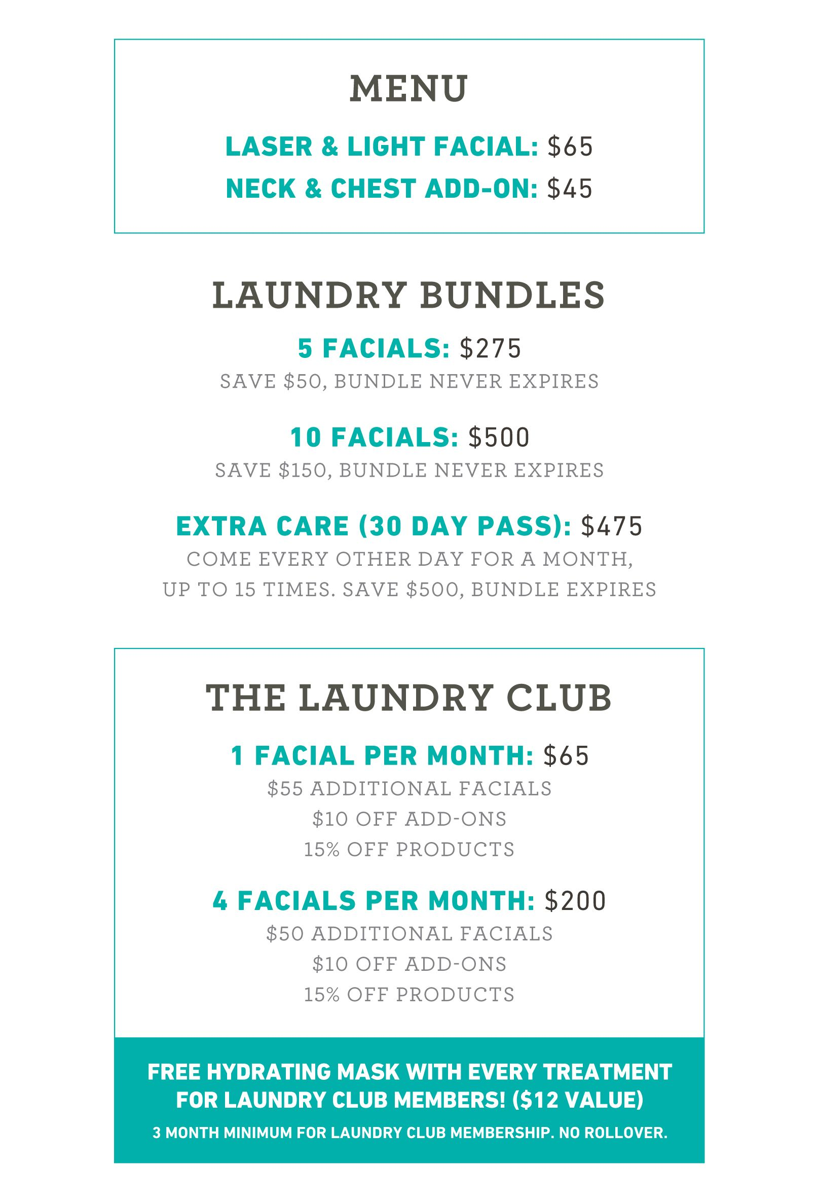 Skin Laundry Facial Prices Skin Laundry Laser Facial Skin
