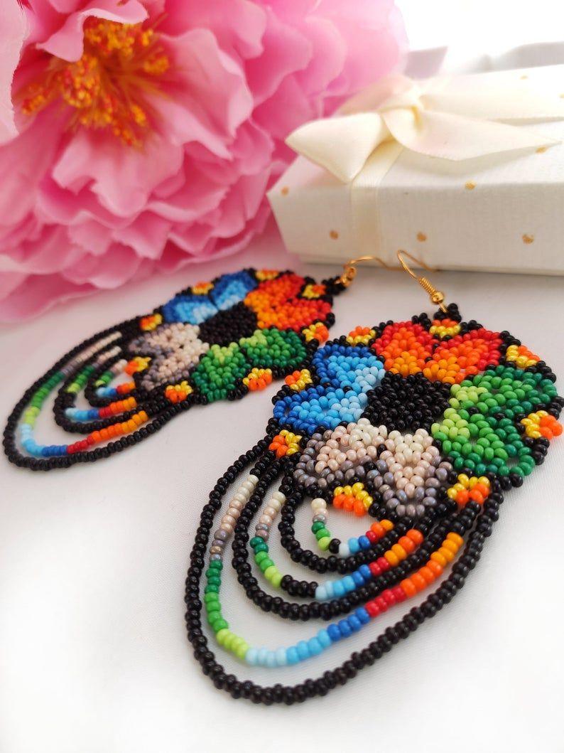 Christmas gift her Christmas gift women Bead earrings Bead jewelry Gifts Beaded earrings Beaded jewelry Gift for her Gift for women