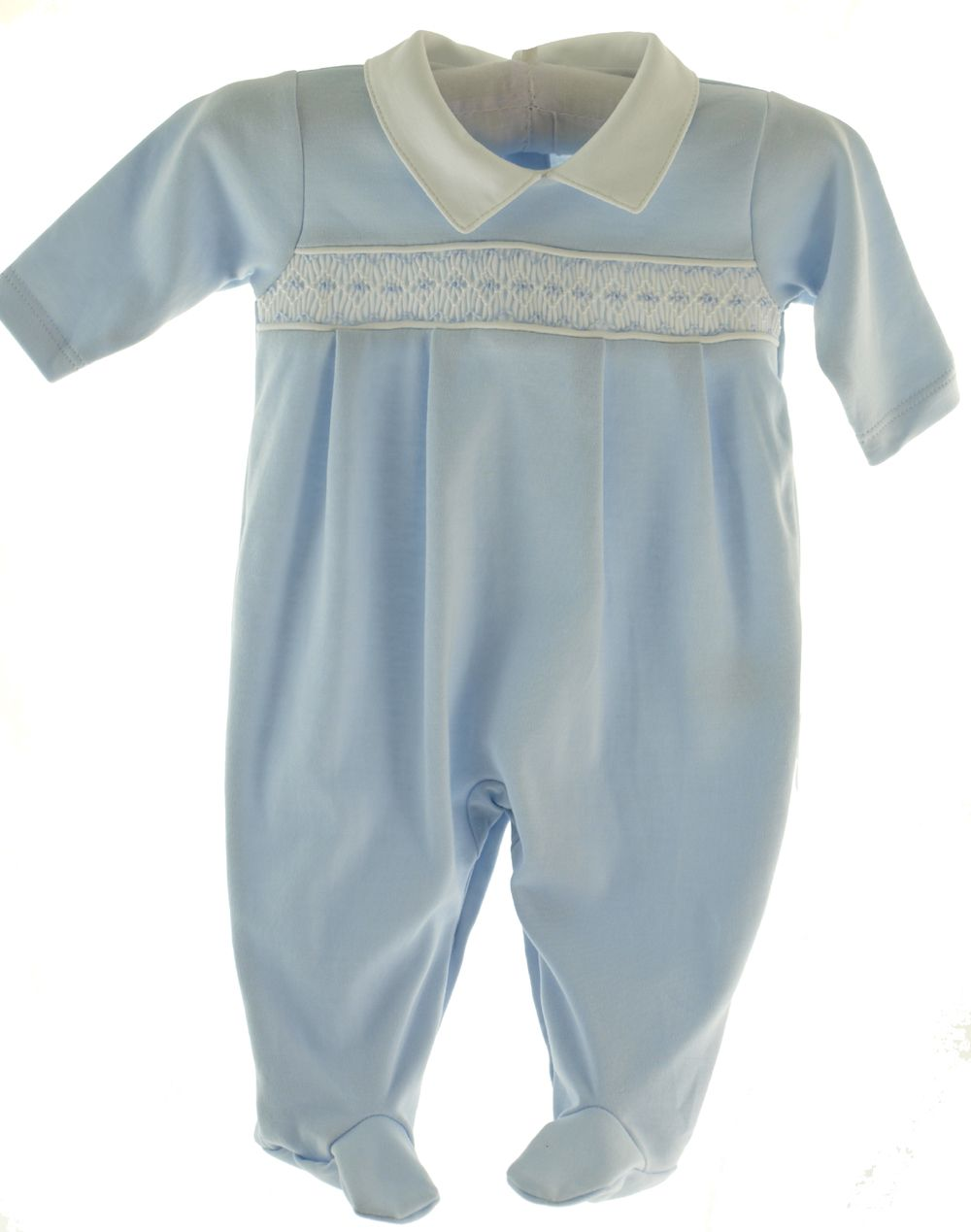 Kissy Kissy Baby Boys Blue Footed Footie Sleeper Outfit With Collar