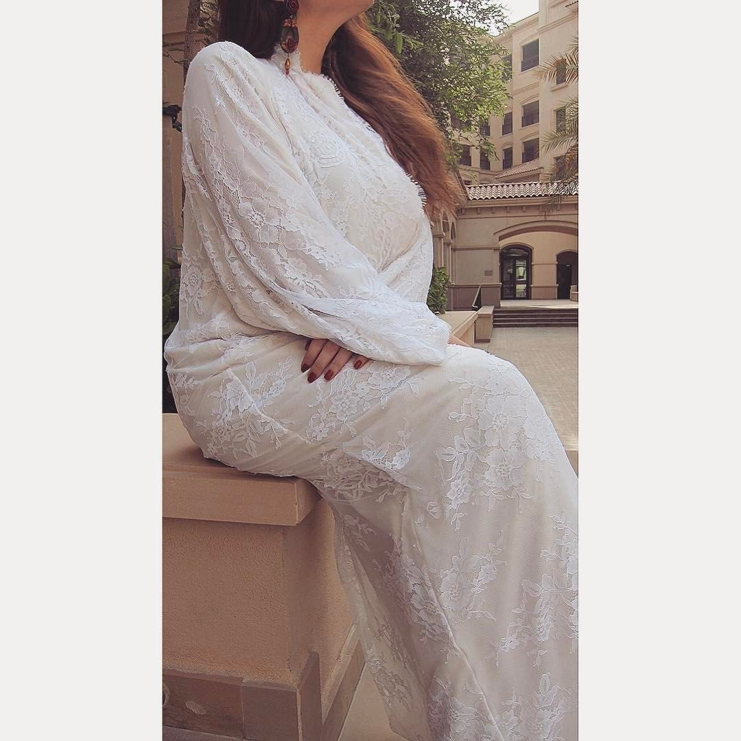 White Lace Abaya Bridalcollection Available For Orders Contact Us On Whatsapp For More Details كولكشن العروس Fashion Bridal Collection White Lace