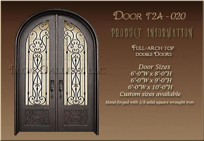 High Quality Exterior Doors Jefferson Door: Full Arched Top Iron Door. We Manufacture High Quality