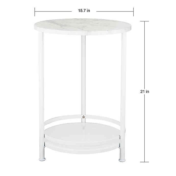 2 Tier Round Side Table In 2020 Side Table Round Side Table Modern Table