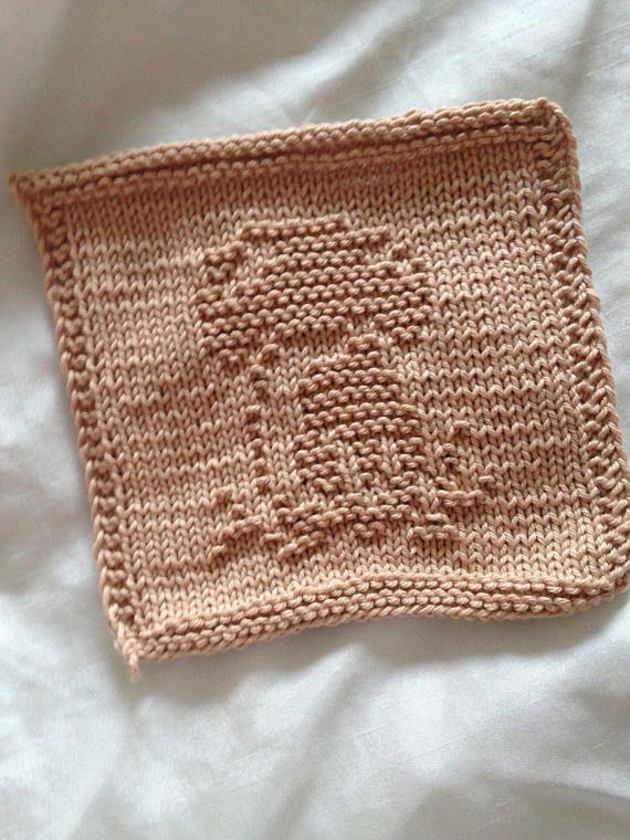 Pattern Dishcloth Washcloth Knitting Pattern Mushroom