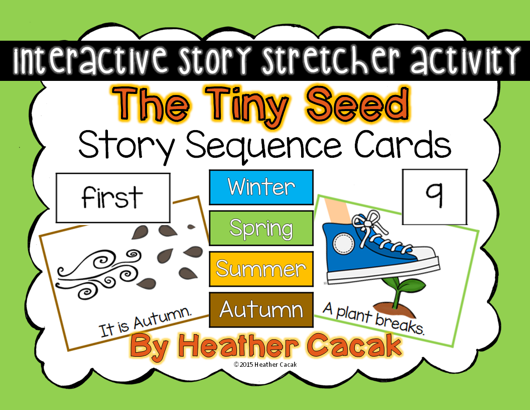 worksheet The Tiny Seed Worksheets the tiny seed story sequence cards for an amazing hands on stretcher activity