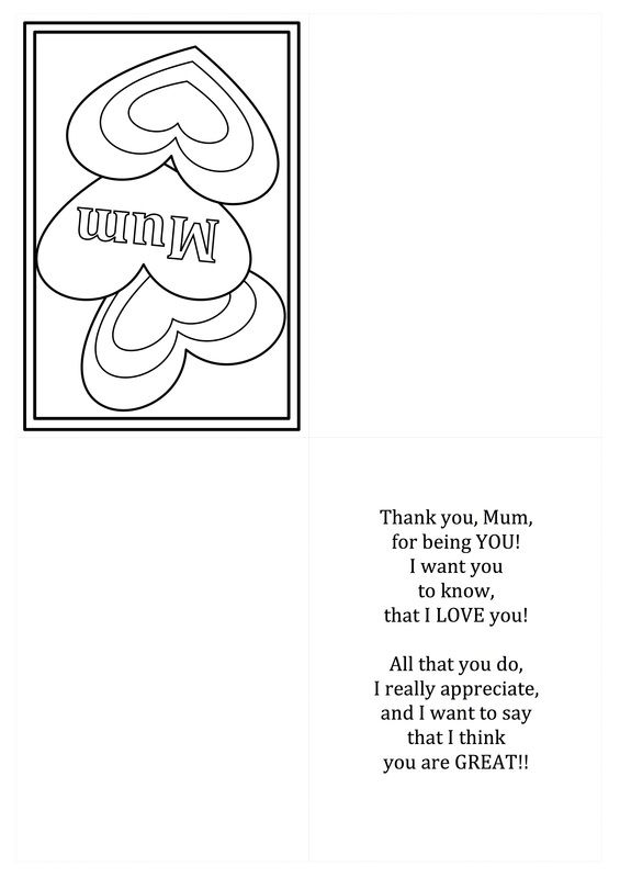 Free Printable Mothers Day Card Template For Kids With Images