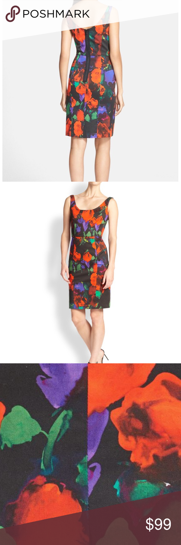 d2ae6359536 Milly Floral-Print Sleeveless Sheath Dress Gorgeous Milly Floral Sheath  Dress. Size 10. Scoop neckline and back. Sleeveless