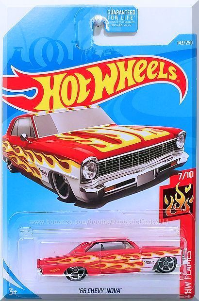Hot Wheels - '66 Chevy Nova: HW Flames #7/10 - #143/250 (2019) *Red Edition*