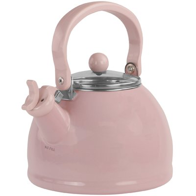 Baby Pink Stainless Steel Whistling Kettle