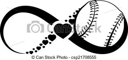 Softball Heart Clipart Black And White Clipartfest Clip Art Free Clip Art Infinity Symbol