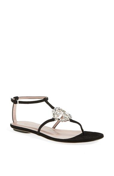 2af8e097eb3a Free shipping and returns on Gucci  GG  Crystal Thong Sandal at  Nordstrom.com. A barely there sandal in sultry suede flaunts a crystallized  logo for ...