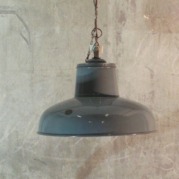 Vintage Deckenlampe Industrie Design 1940