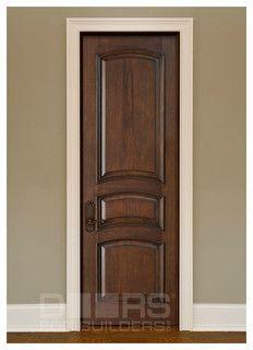Rich looking interior door with white trim Custom Interior Doors ...