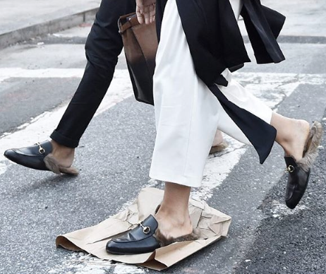Gucci loafers. Street style. Fashion. Inspiration. Fashion week.