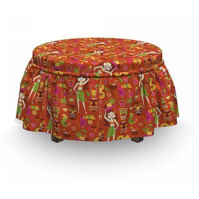 East Urban Home Hawaiian Luau Party Aloha Girls Cushion Ottoman Slipcover #hawaiianluauparty