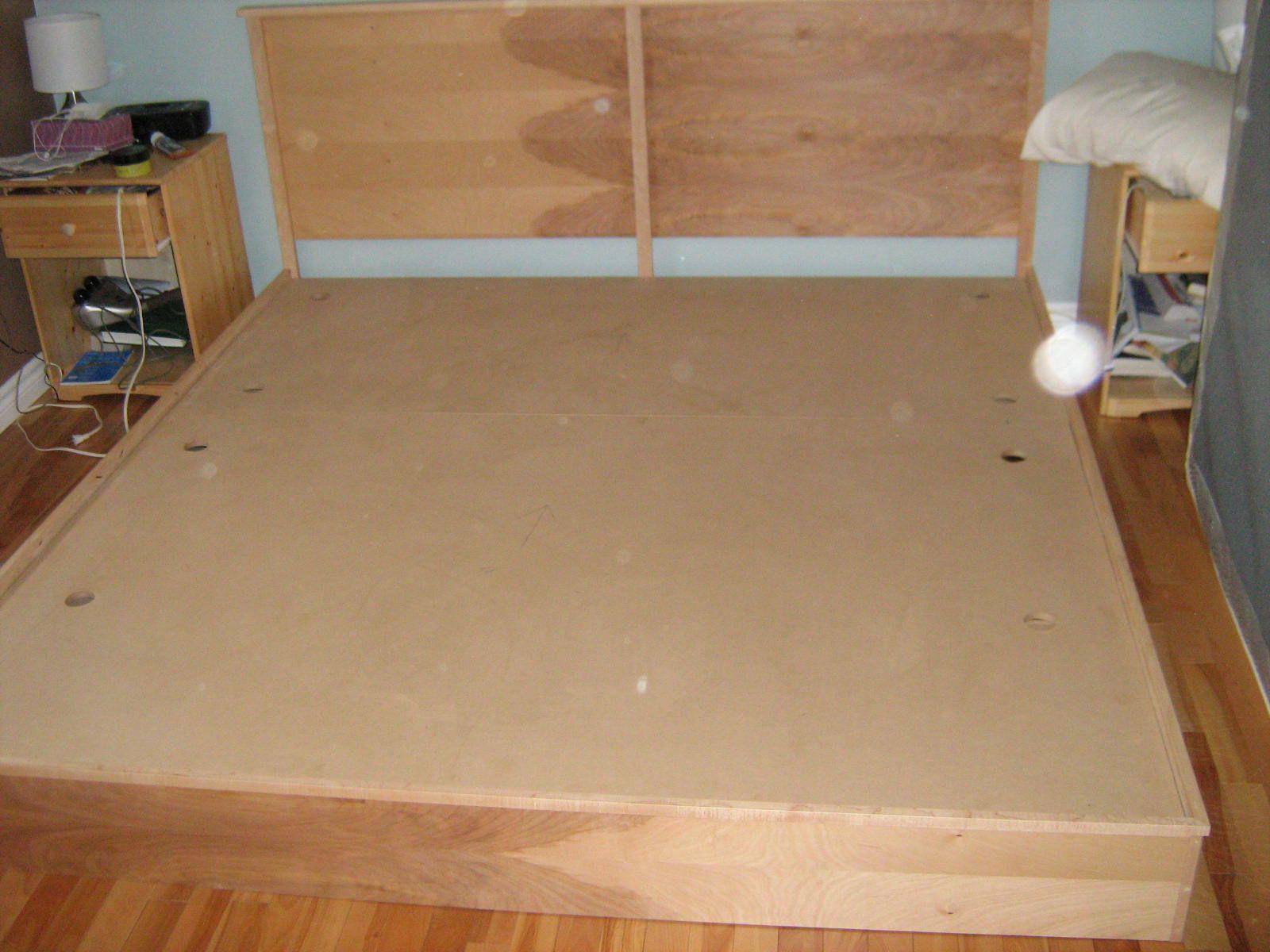 Diy King Platform Bed Plans Diy Bed Frame Cheap Diy Platform