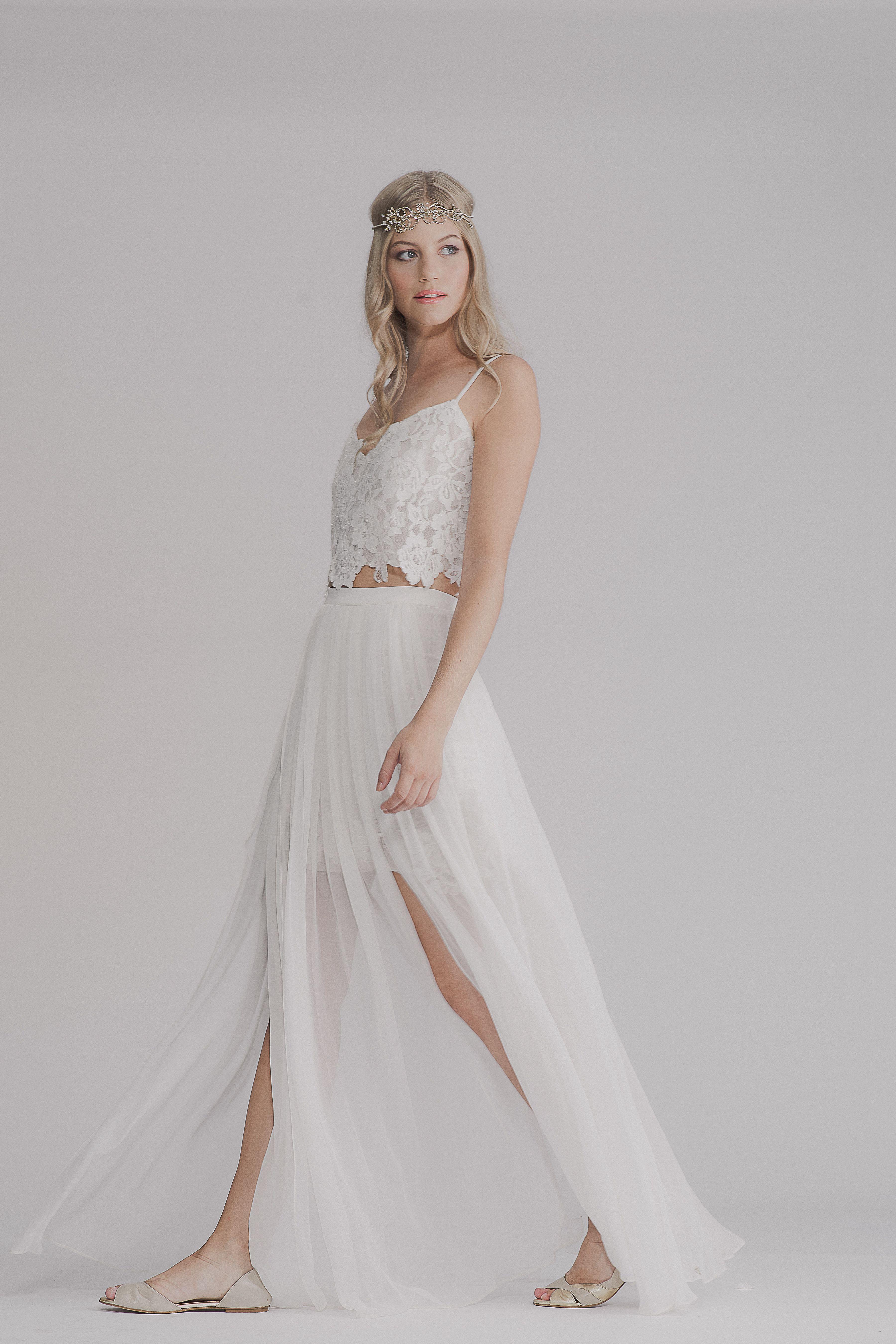 Lilyrose gown lace bohemian wedding dress bohemian