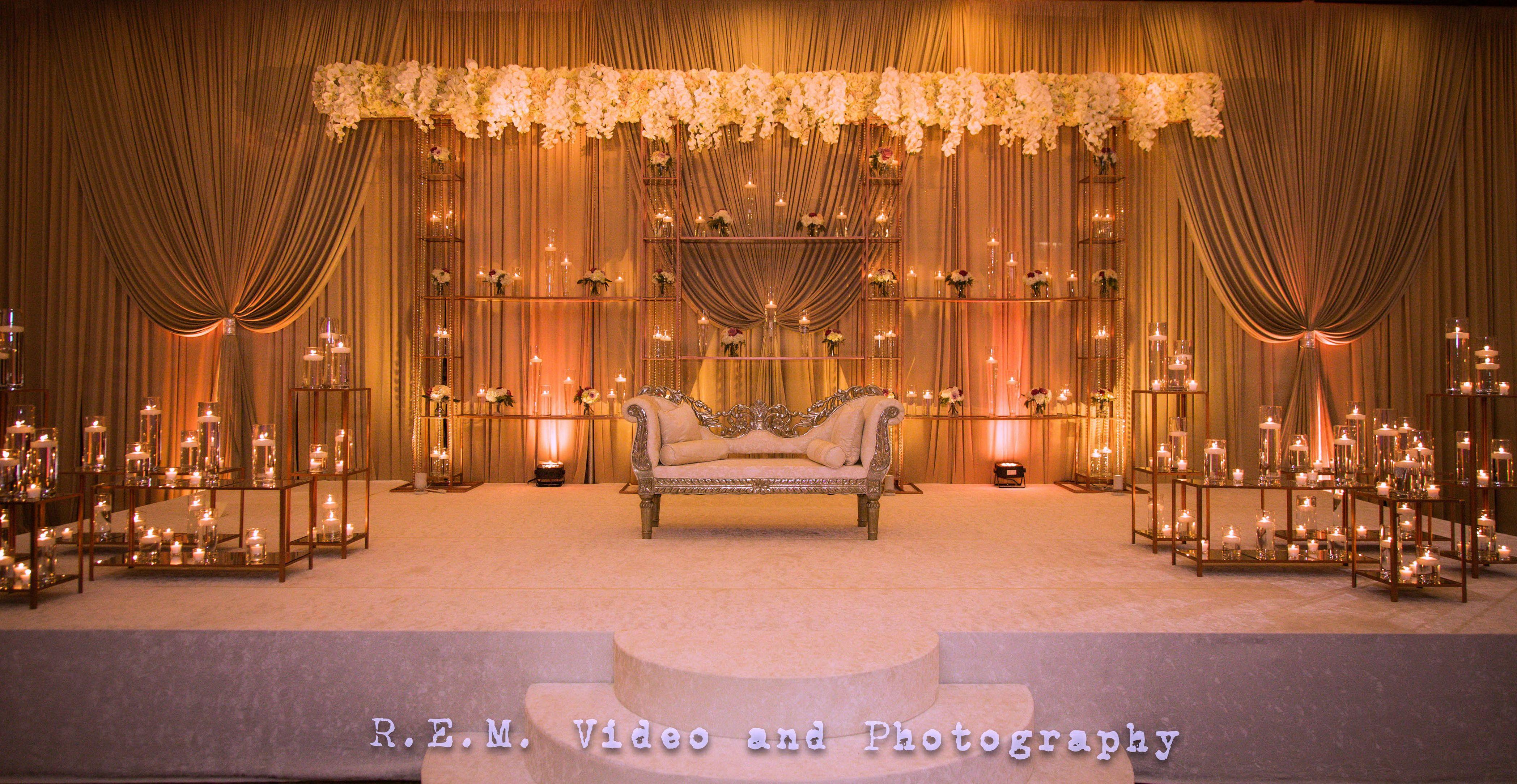 Candle Lit Stage By Yanni Design Studio Muslim Wedding