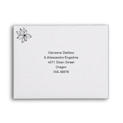 Wedding Invitation Rsvp Card With Return Address Envelope