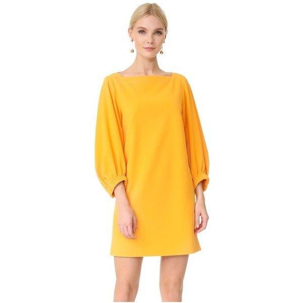 Tibi Bateau Neck Mini Dress Sale Geniue Stockist f8AWlpV5