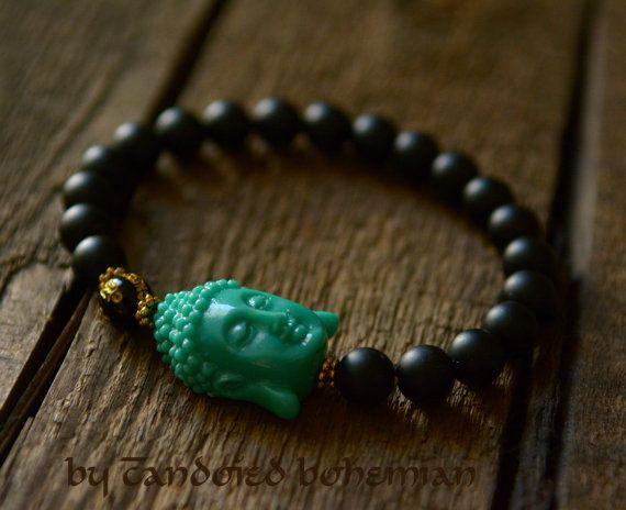 Strength Men S Beaded Bracelet Buddha By Candbohemian