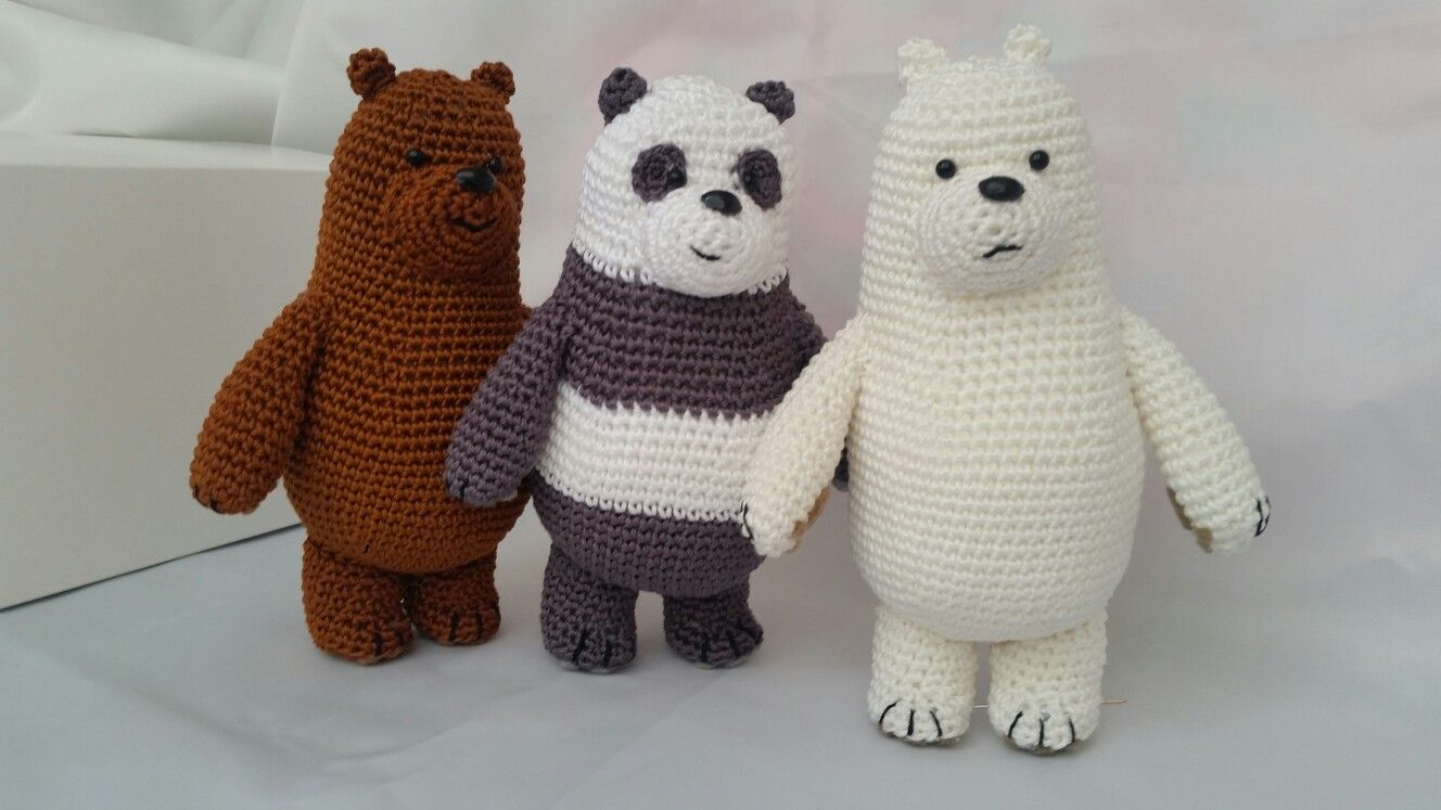 We bare bears crochet #webarebears #crochet #cute #amigurumi ...
