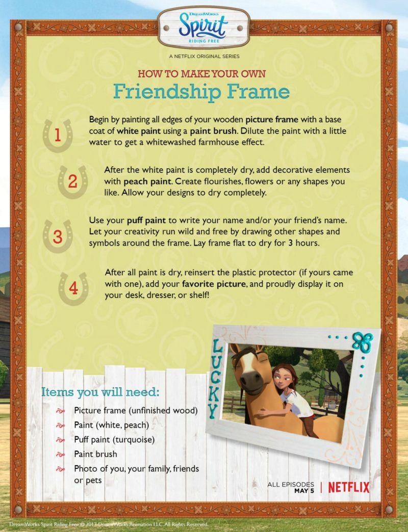 Spirit Riding Free Friendship Frame Craft Spirit