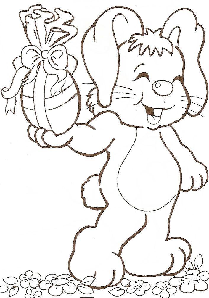 Desenhos Para Pascoa 25 Ideias Para Voce Imprimir Coelhinho