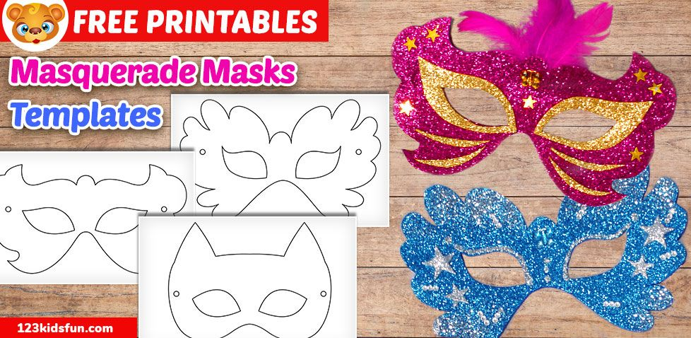 Felt Mardi Gras Masks For Kids Free Printable Mardi Gras