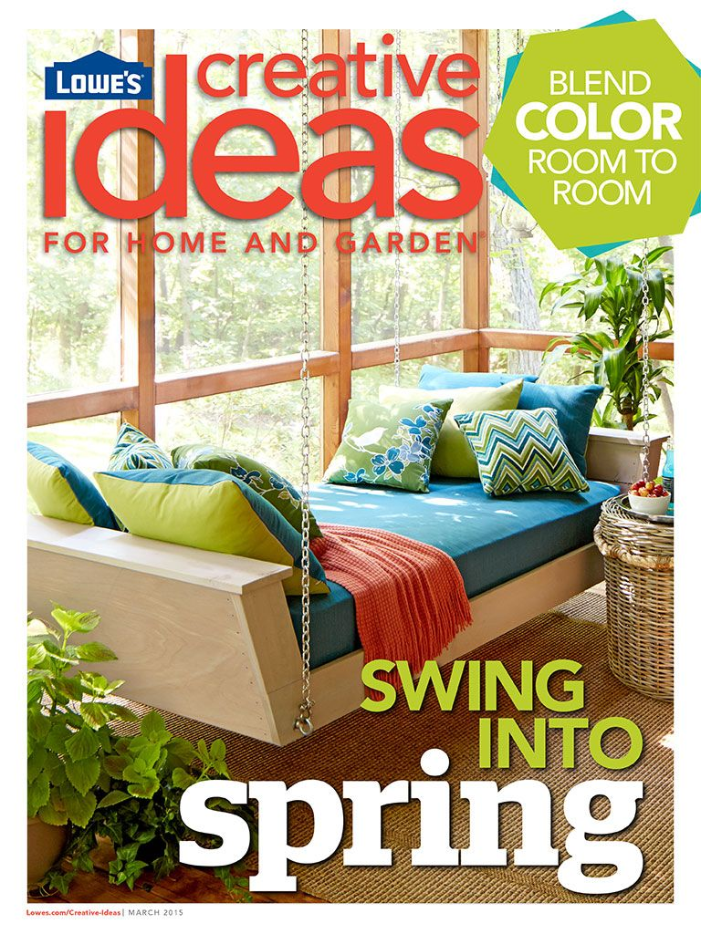 Download our new issue of Lowe\'s Creative Ideas for helpful paint ...
