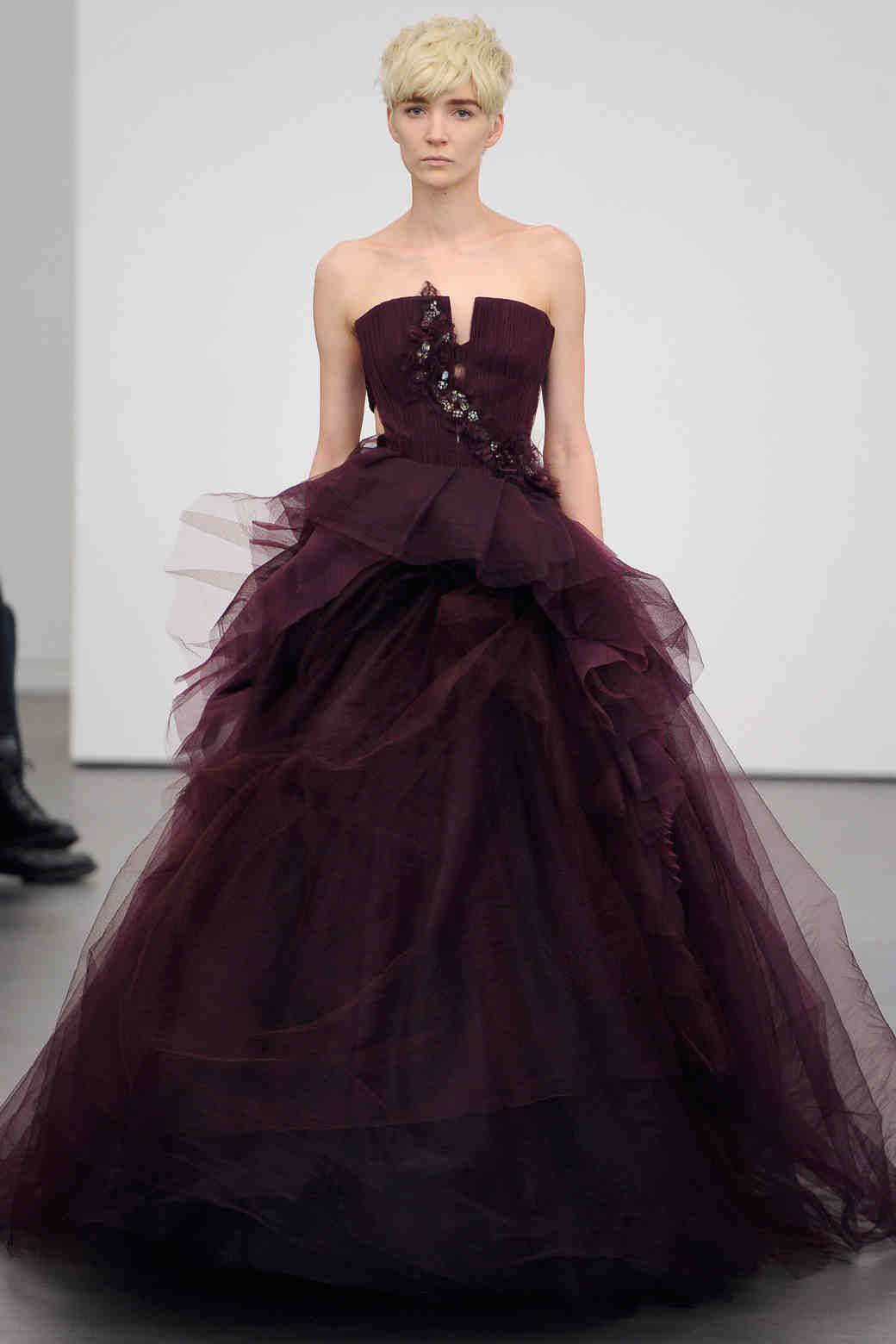 Vera wang ball gown wedding dress  Chrissy Teigenus Three Vera Wang Gowns From Sketch To Wedding Day