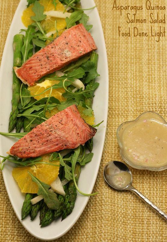 Asparagus Quinoa And Salmon Salad Recipe Eat Clean Live Lean