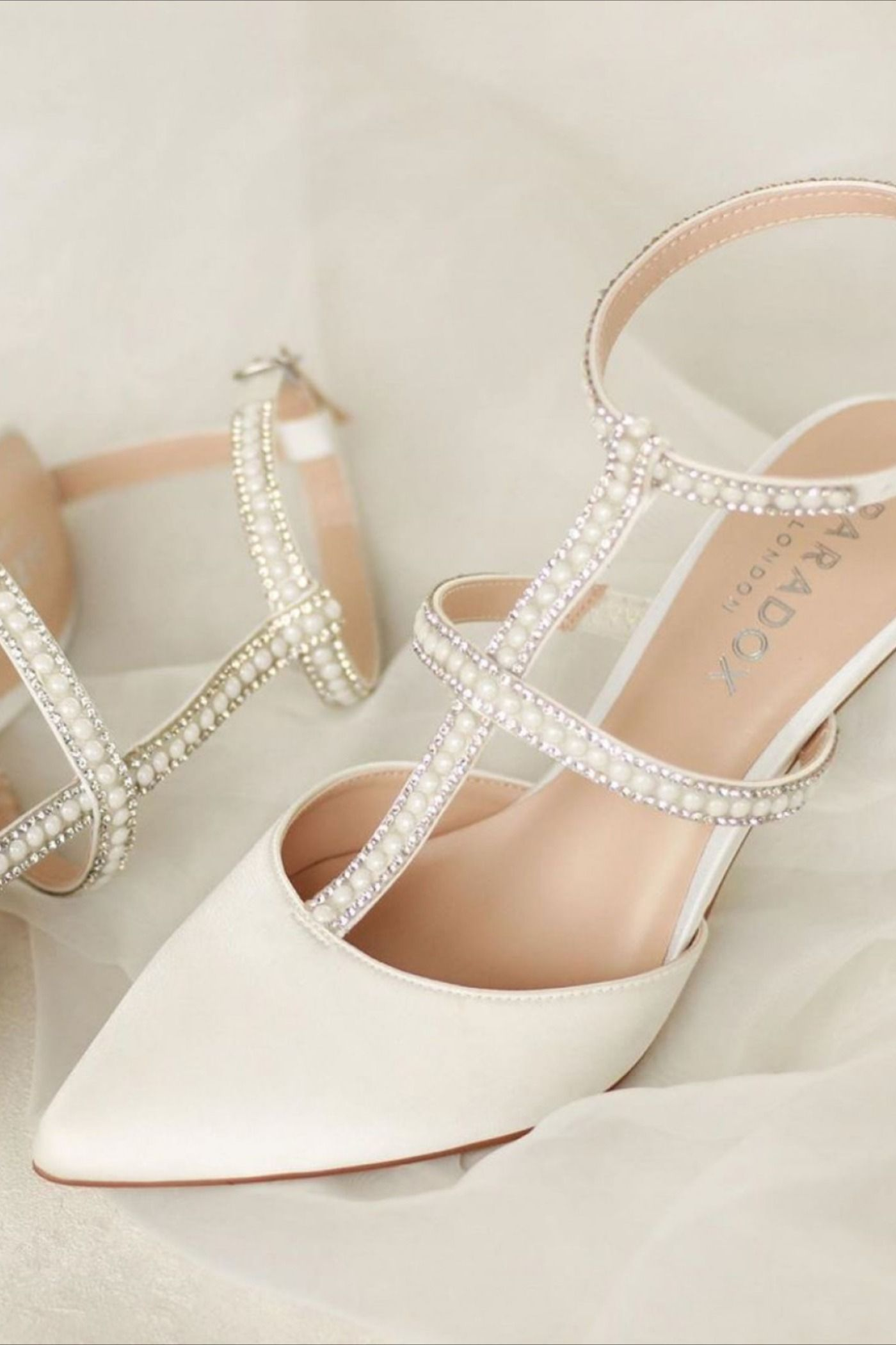 pink by paradox ivory shoes