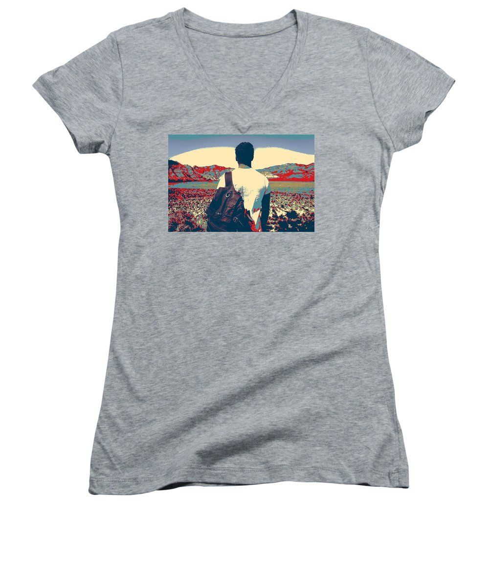 On The Move In The Wilderness - Women's V-Neck T-Shirt