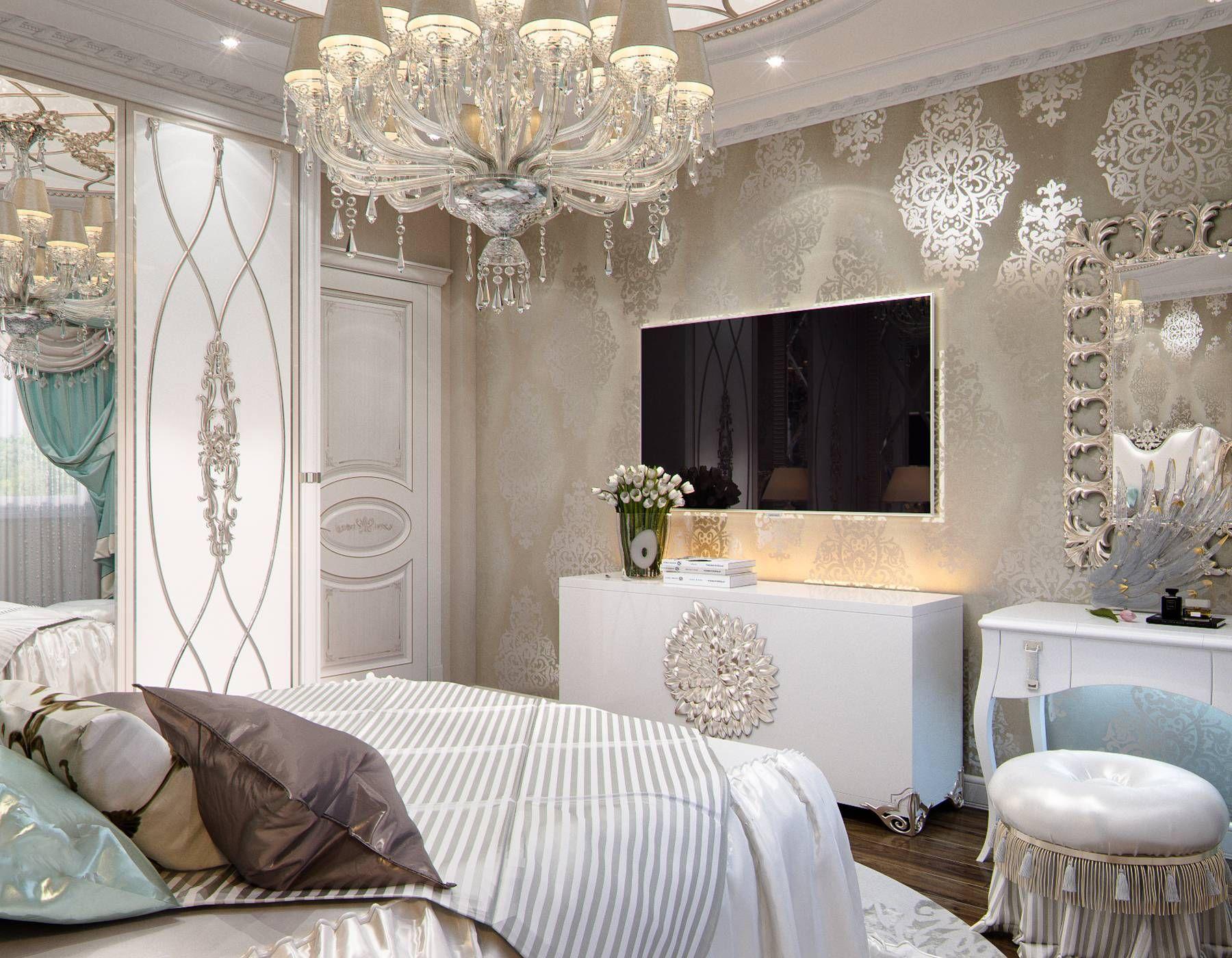 Дизайн квартиры в классическом стиле с белой мебелью на ...