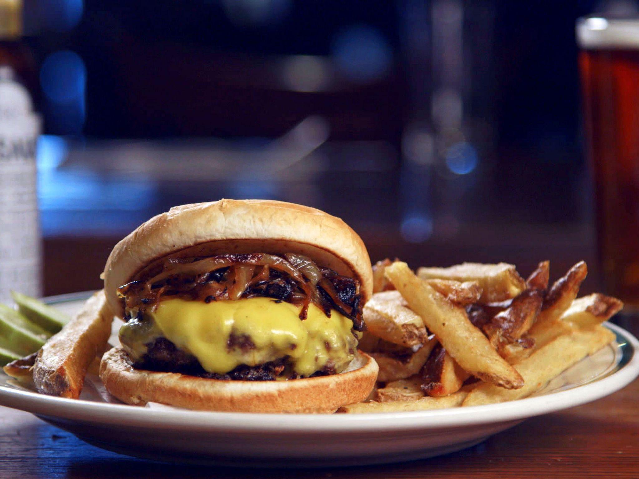 2 Steakhouse Burger Brindle Room Food Network Food Network Recipes Steakhouse Burger Food
