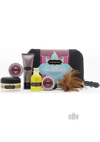 Introducing the ideal travel companion. This collection of Kama Sutra products fit nicely into your luggage and carry-on and are perfectly sized under 3.4 oz to meet the flight regulatory standards.  http://sexshopit.com/The-Getaway-Kit/sku-CNVEF-EKS0120?a=product_item#