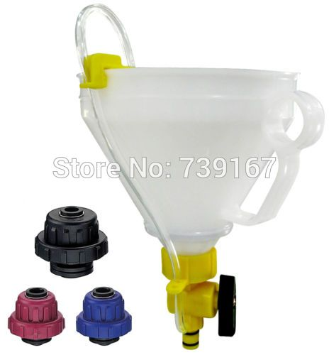 Engine Cooling System Coolant Refilling Tool With 3 Adapters For