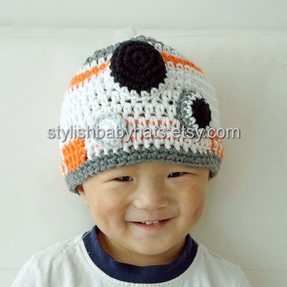 BB-8 hat, BB8 hat, Star Wars hat, Crochet Droid Hat, Crochet Baby ...