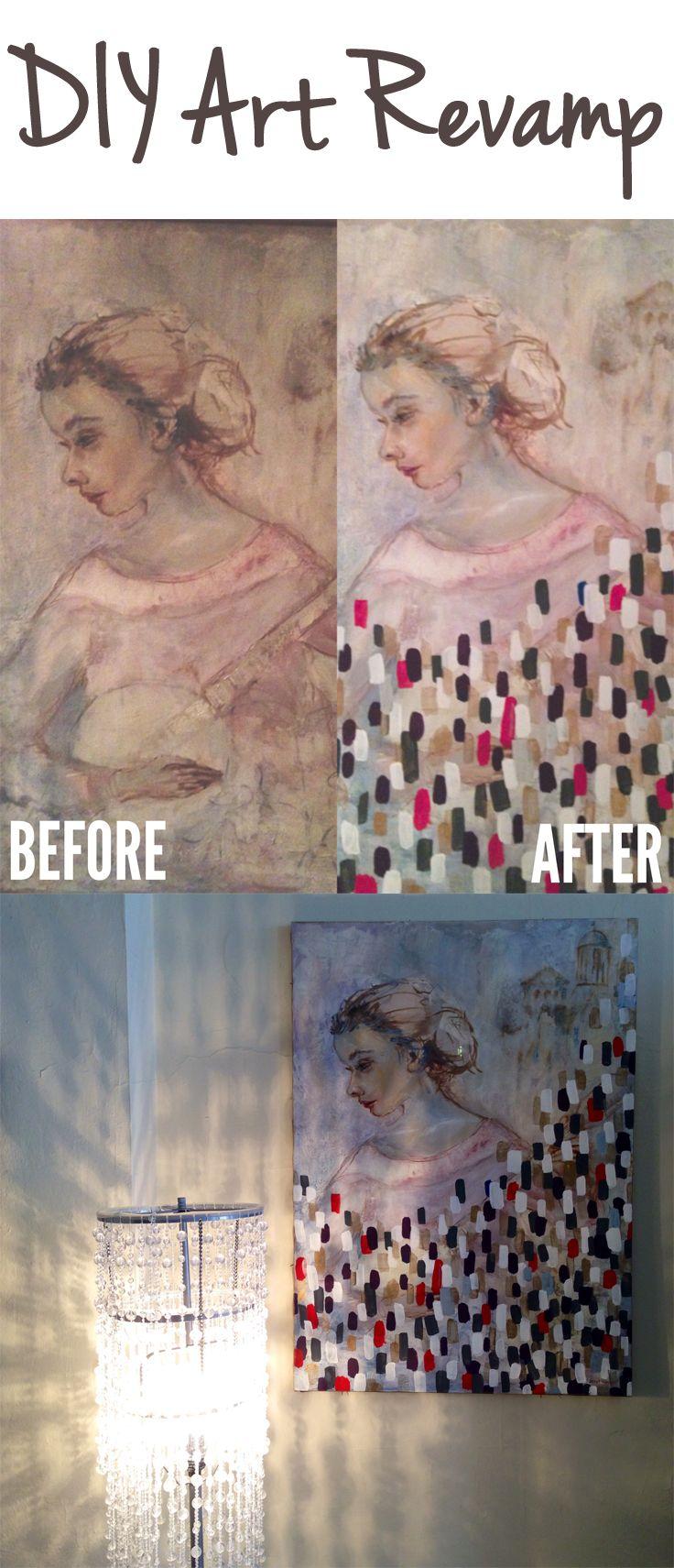 DIY Home Decor: Thrifty Art Revamp #thriftstorefinds