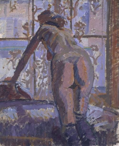 Nude at a Window, ca 1912, Harold Gilman. British Camden Town Group Painter (1876 - 1919)