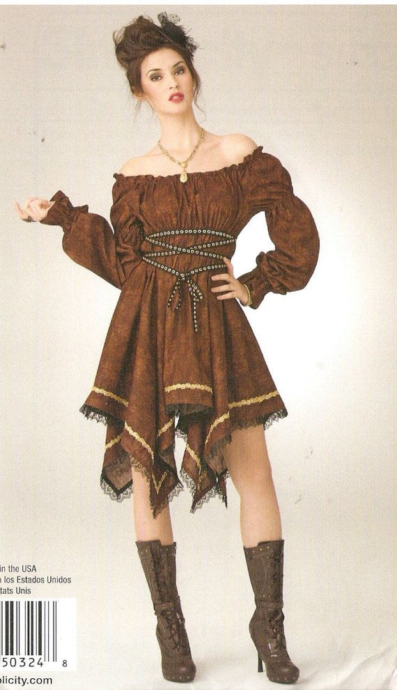 Simplicity S0324 Misses\' Steam Punk Dress Costume Sewing Pattern 8 ...