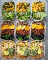 VEGAN HIGH PROTEIN MEAL PREP  Vegane Rezepte zum ausprobieren