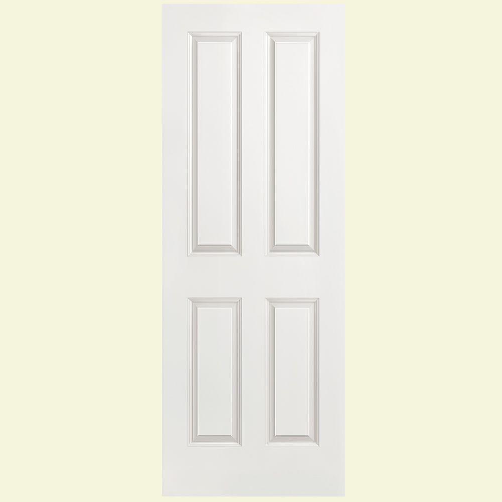 Masonite 30 In X 80 Solidoor Smooth 4 Panel Solid Core Primed Composite Interior Door Slab White