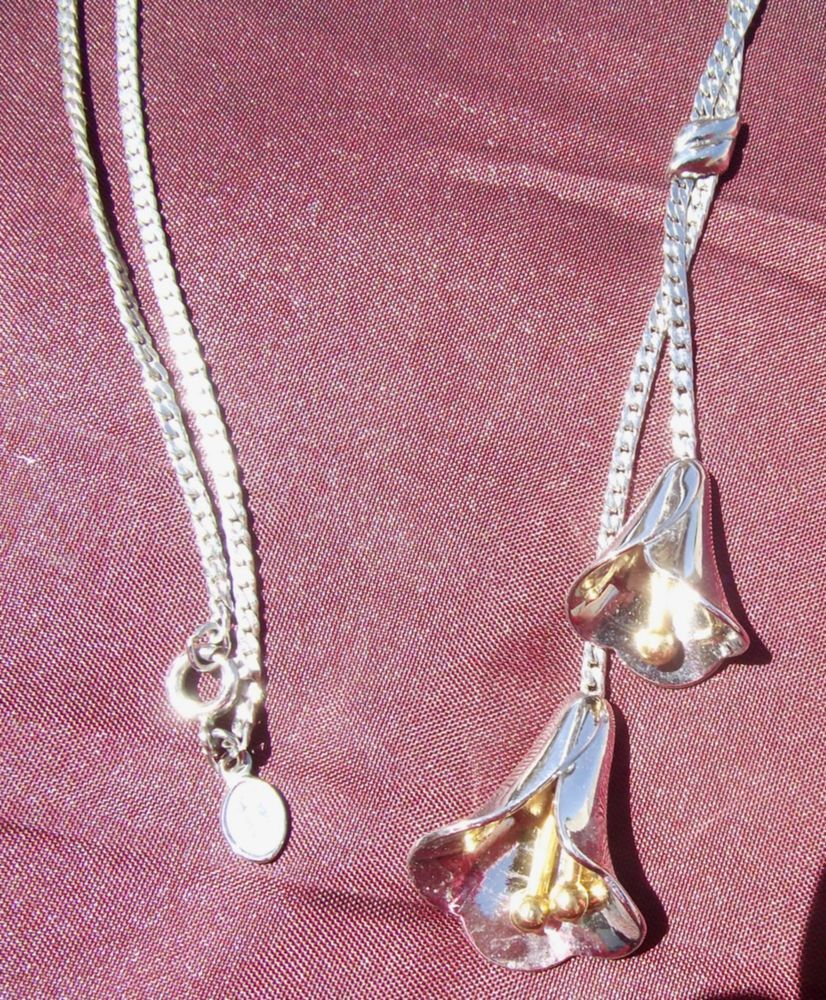 Vintage Avon Briolette Necklace Tulips Flower Bells