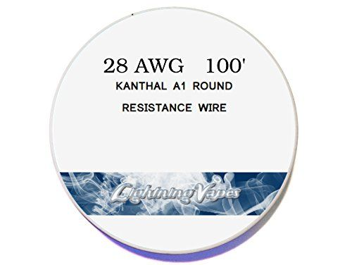 Genuine Lightning Vapes Kanthal 28 Awg Gauge A1 Wire 100 Roll 32mm 5 27 Ohms Ft Resistance Lightning Vapes Http Www Amazon Com Dp B0 Wire Wire Spool Gauges