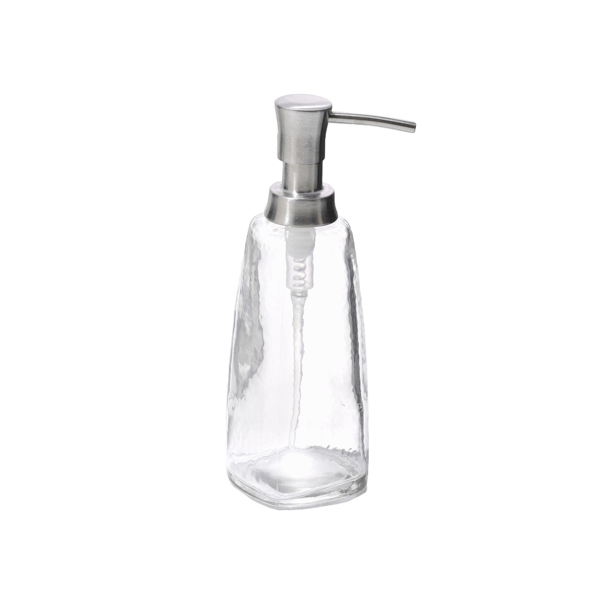interDesign Vitri Glass Tall Soap Pump, Multicolor