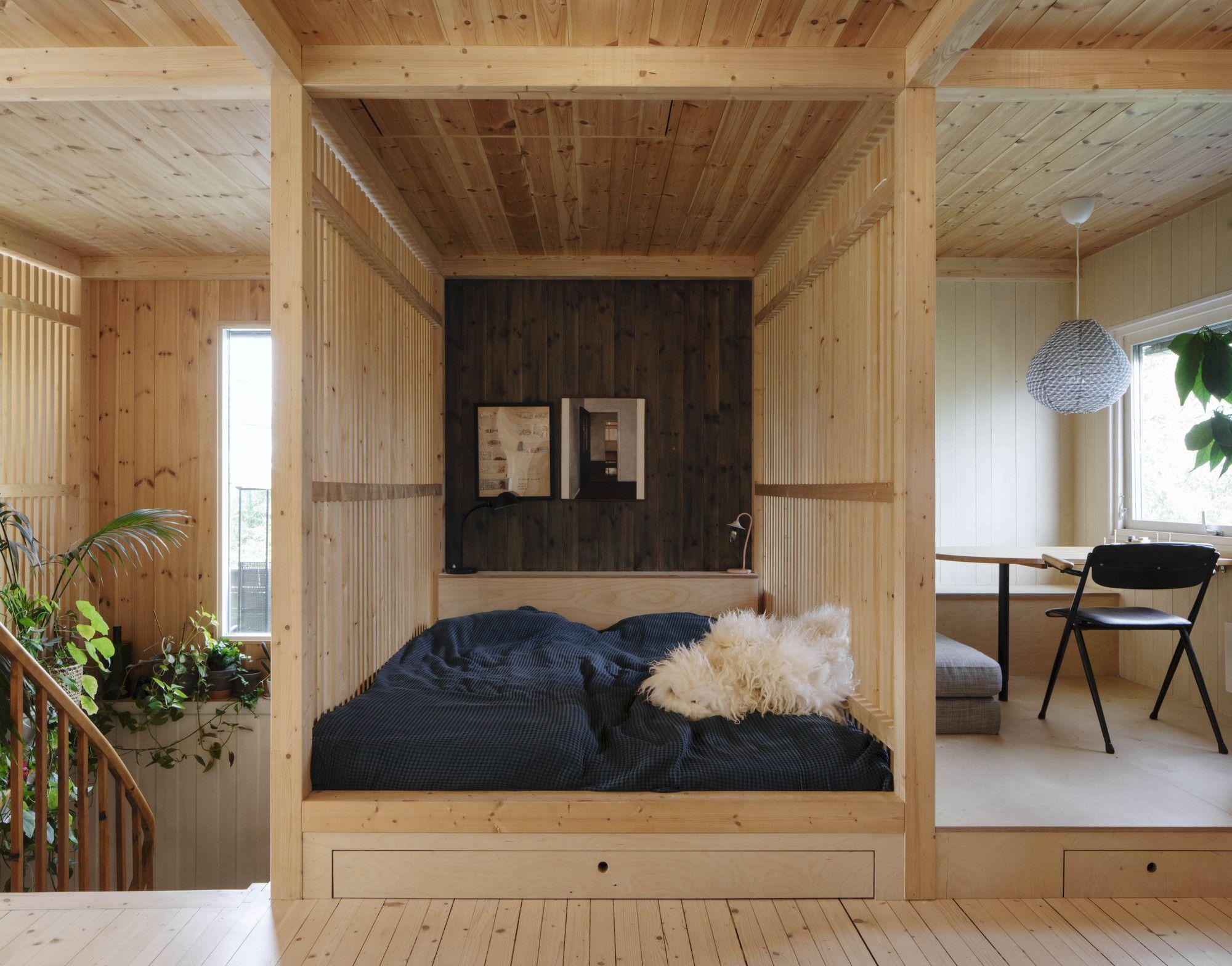 Wood Slat Shotgun House Austigard Arkitektur