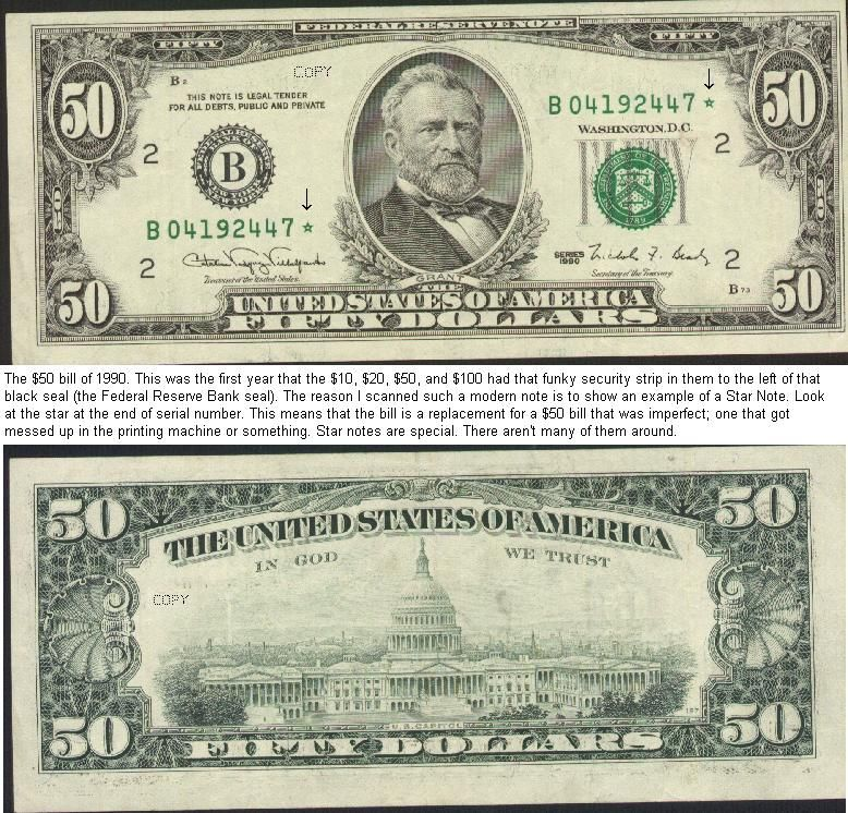 U S Fifty Dollar Bill United States Currency
